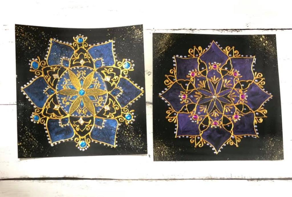 立体的な曼荼羅アート