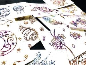ラメで描く曼荼羅アート