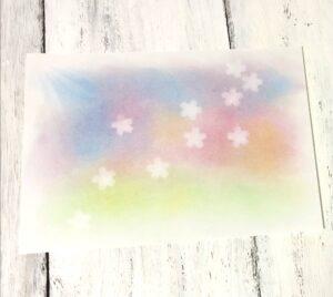 桜と光のパステルアート